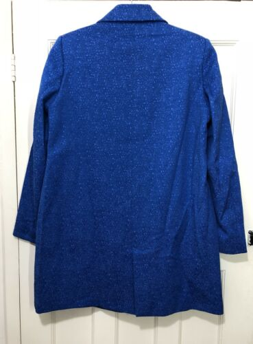 Weave Coat L Blazer Bnwt Blue Double Breasted Textured Zara Size Rrp£70 EfqBK