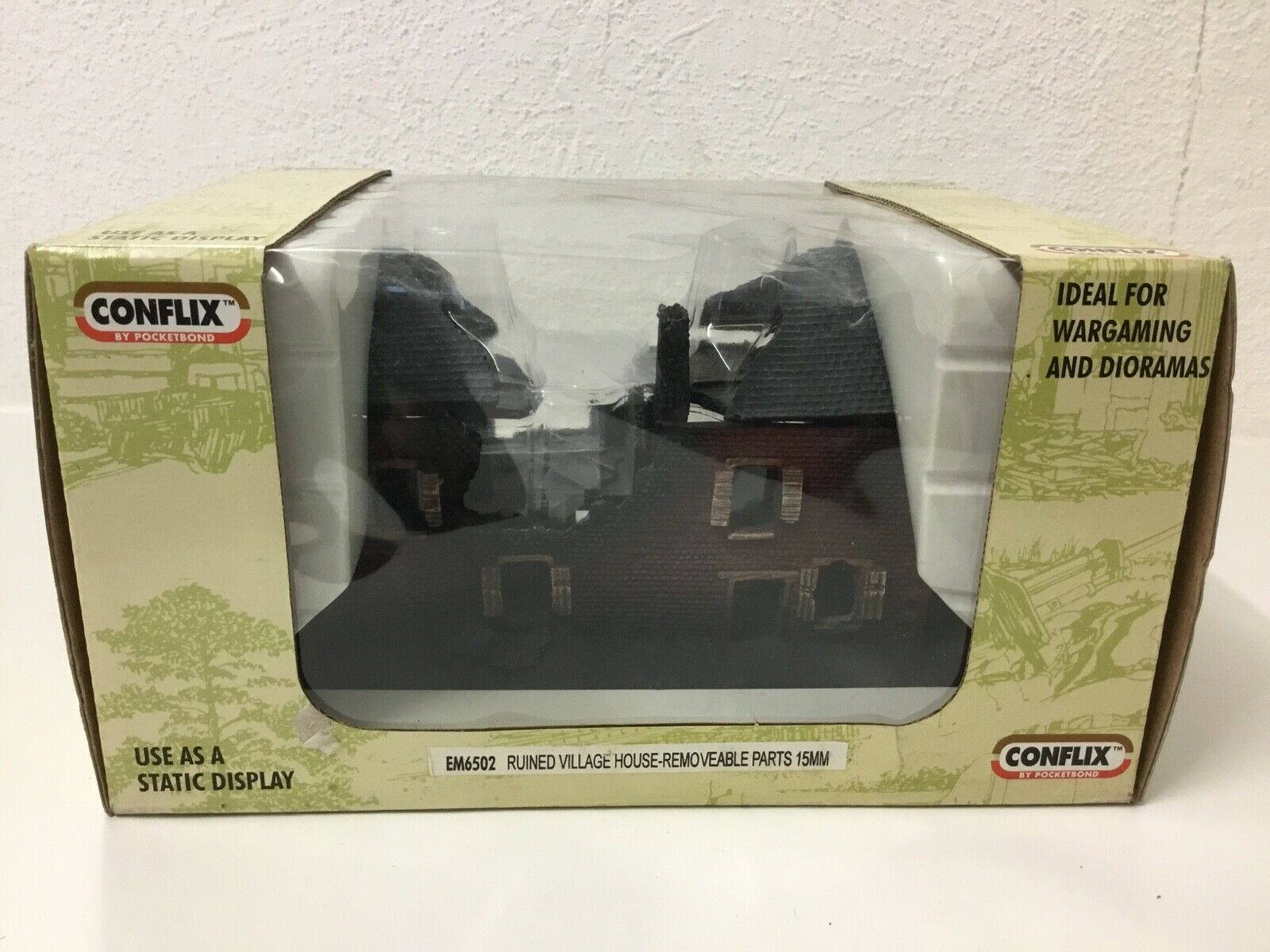 Conflix RUINED VILLAGE HOUSE  15mm Wargaming & Diorama