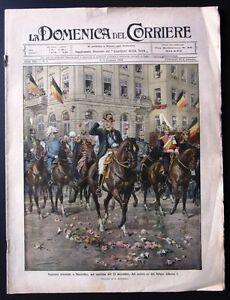 1910-BELGIO-RE-ALBERTO-operai-molino-Cavarzere-MILANO-CASE-POPOLARI-cava-Ostuni