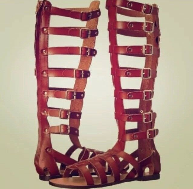 NWB Madden Girl Brown Gladiator Sandals 6