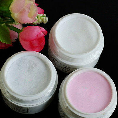 1pc Clear&White&Pink Acrylic Powder For Nail Art Tips UV Gel Glitter Kit Set