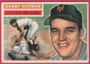 1956-Topps-28-Bobby-Hofman-Giants-EX