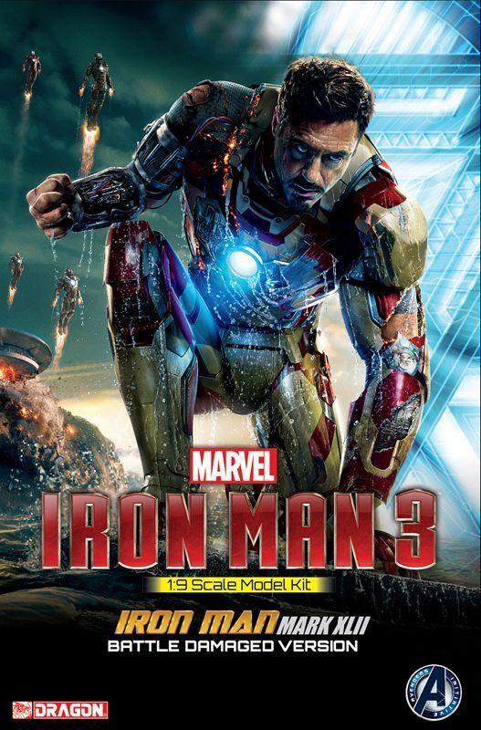 Dragon Marvel 38328 1 9 Iron Man 3 Model Kit Kit Kit Mark XLII Battle Damaged Version 108290