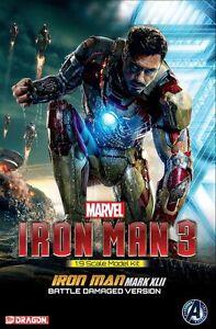 Dragon-Marvel-38328-1-9-Iron-Man-3-Model-Kit-Mark-XLII-Battle-Damaged-Version