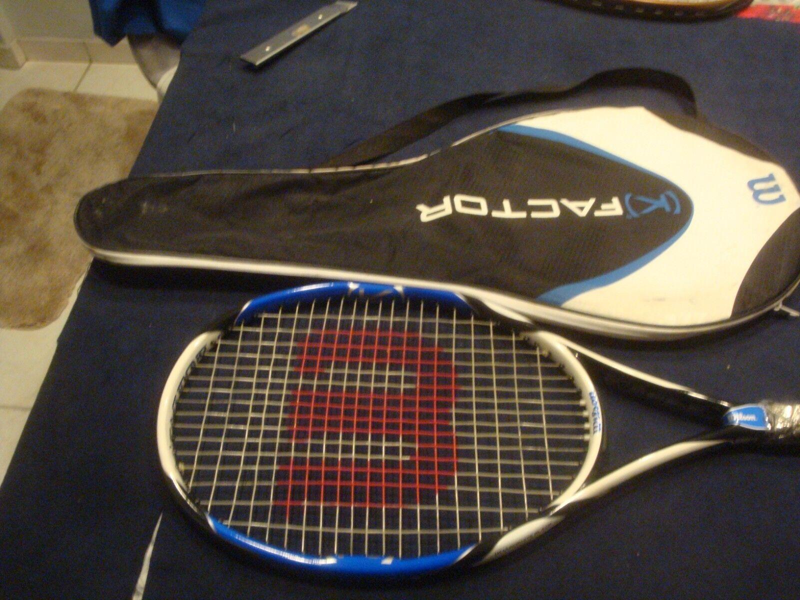 Wilson (K)Factor Pro.Six Tennis Racquet 100 sq.in. Grip 4 3 8    EXCELLENT