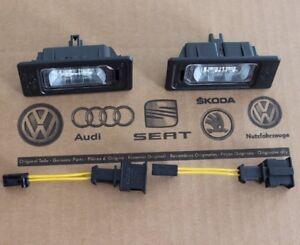 Audi-A5-8T-original-LED-Kennzeichenleuchten-Kennzeichenbeleuchtung-B8-Leuchten