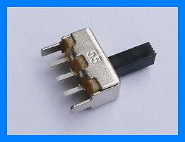 10 X Vertical interruptor deslizante 50v 0,5 a Dc 1p2t