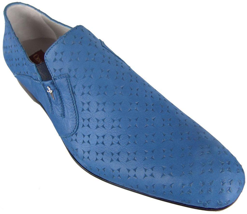 Authentic  680 Cesare Paciotti US 7 Leather Loafers Italian Designer scarpe