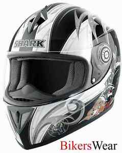 5b368098 Shark RSI ACID Black / White Full Face Motorcycle Crash Helmet Size ...