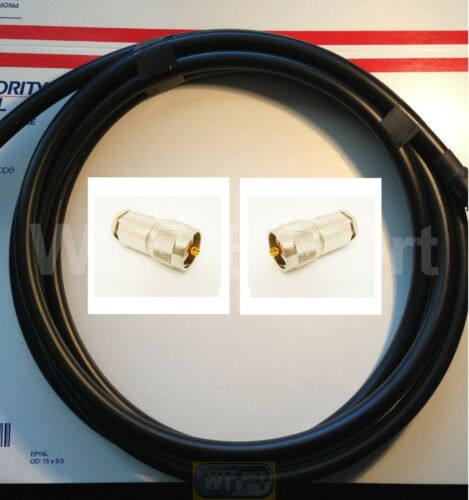 TIMES® 100/' LMR400UF Antenna Jumper Patch Coax Cable PL-259 Cnctrs CB HAM RF GPS