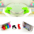Kitchen Heat Resistant Silicone Pot Spill-proof Lid Rack Phone Dish Holders Tool