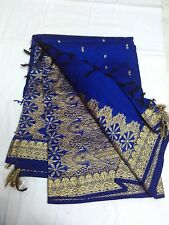 Blue KanchiSilk Cotton Saree Grand Jari PalluSaree W/B(New With Defect)MRP 1500