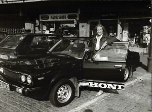 Anita-Hegerland-Honda-Vintage-Photo-de-Presse-Photo-Unfried-U-2508