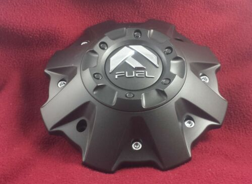 Fuel Wheels Flat Black Custom Wheel Center Cap Set 4 #1001-63B W//CAP LOCKS!