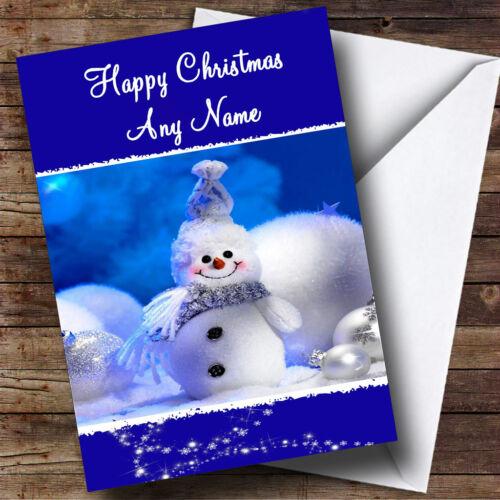Snowman Cute Christmas Greetings Card Personalised