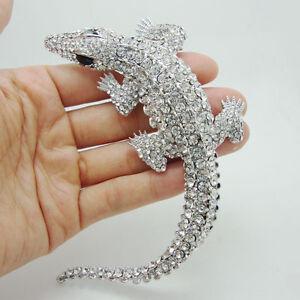 Gorgeous-Bride-Crocodile-Animal-Pendant-Rhinestone-Crystal-Bride-Wedding-Brooch