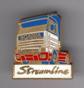 RARE-PINS-PIN-039-S-CAMION-TRUCK-SCANIA-STREAMLINE-OR-DORE-ARTHUS-BERTRAND-ER
