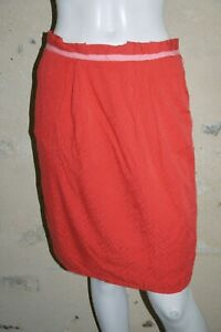 JACQUELINE-RIU-Taille-38-Superbe-jupe-doublee-rouge-viscose-skirt