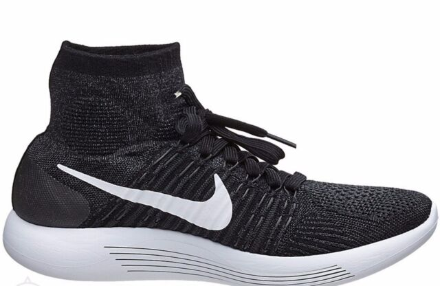 free shipping fea8f 424ee Nike Lunarepic Flyknit Shoes Black/White Anthracite 818676 007 Mens MSRP  $175!