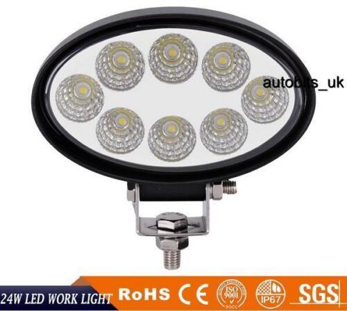 8 x  24W LED Work Light Oval Flood Driving Lamp Offroad Light Bar SUV Truck 4X4