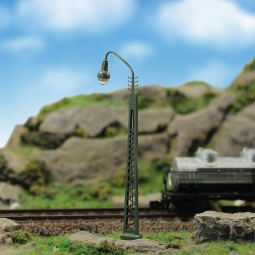 Modell bahnleuchten Gittermastleuchte,spur N licht Layout Neu 3 Stk