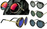 Retro Sonnenbrille Vintage Rund Wie Steampunk Gletscherbrille Lennon Sunglasses