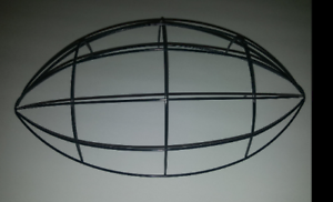 "12"" Football Metal Wreath Form DIY Deco Mesh Burlap Frame"