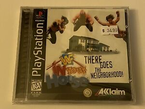 WWF-IN-YOUR-HOUSE-PS1-PlayStation-1-PSX-GAME-COMPLETE-MINT-BLACK-LABEL