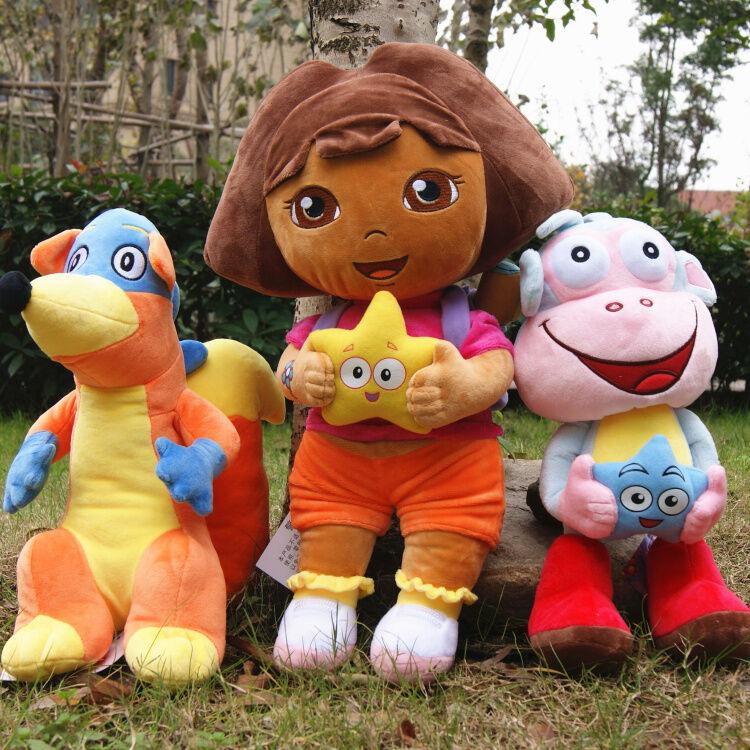 3pcs set set set Dora The Explorer Swiper Fox Boots The Monkey Plush Toy Soft Doll Teddy 8590de