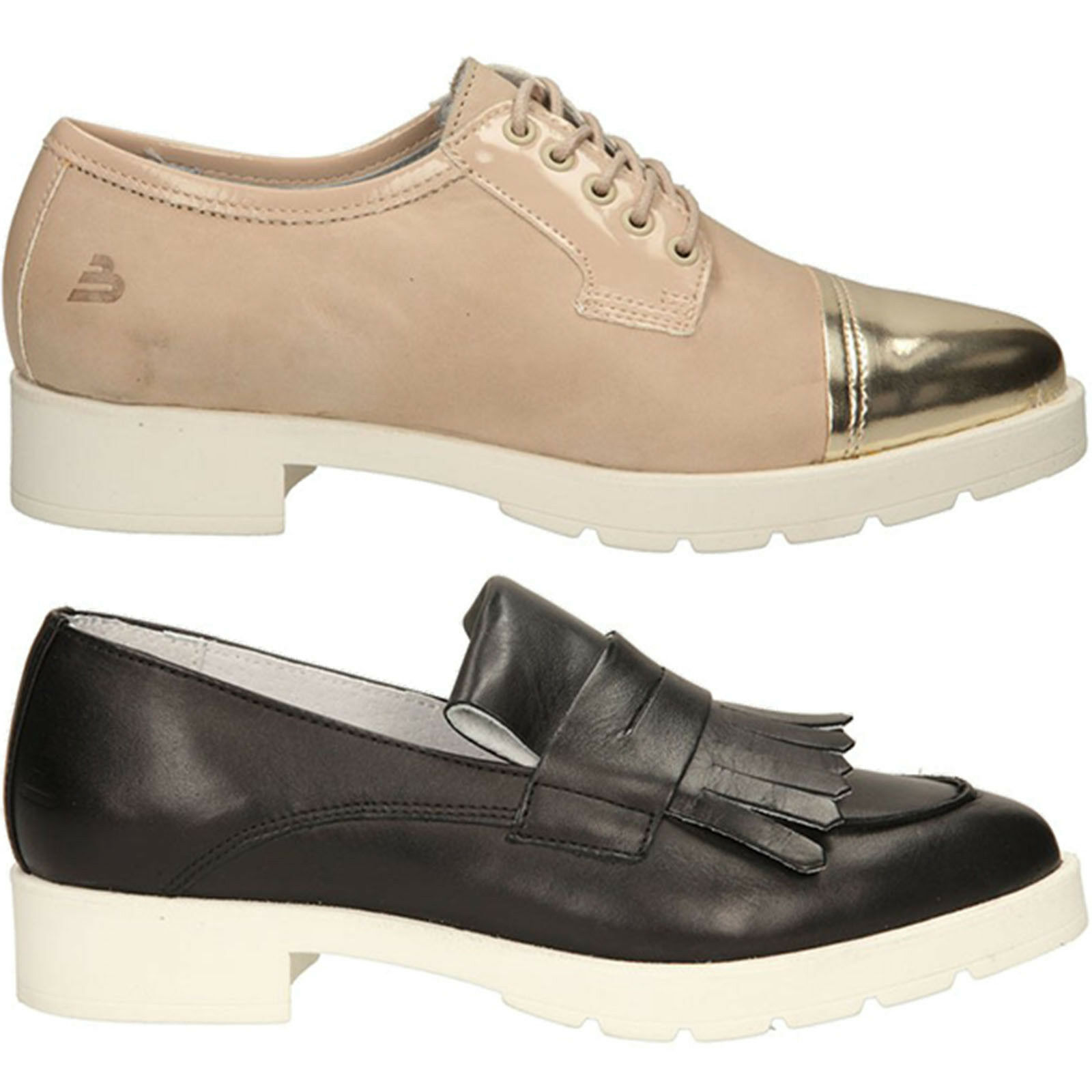 Damen Schuhe Mokassins BullboxerEchtleder Halbschuhe Komfortable Gr. 36-41 NEU