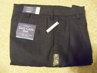 Mens Easy Care Khaki Croft And Barrow 34 X 32 Pleated With Tags