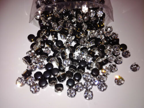 Preciosa MC Chaton Strass Crystal//Black SS19 Glitzersteine Art.7192-7083 10 St