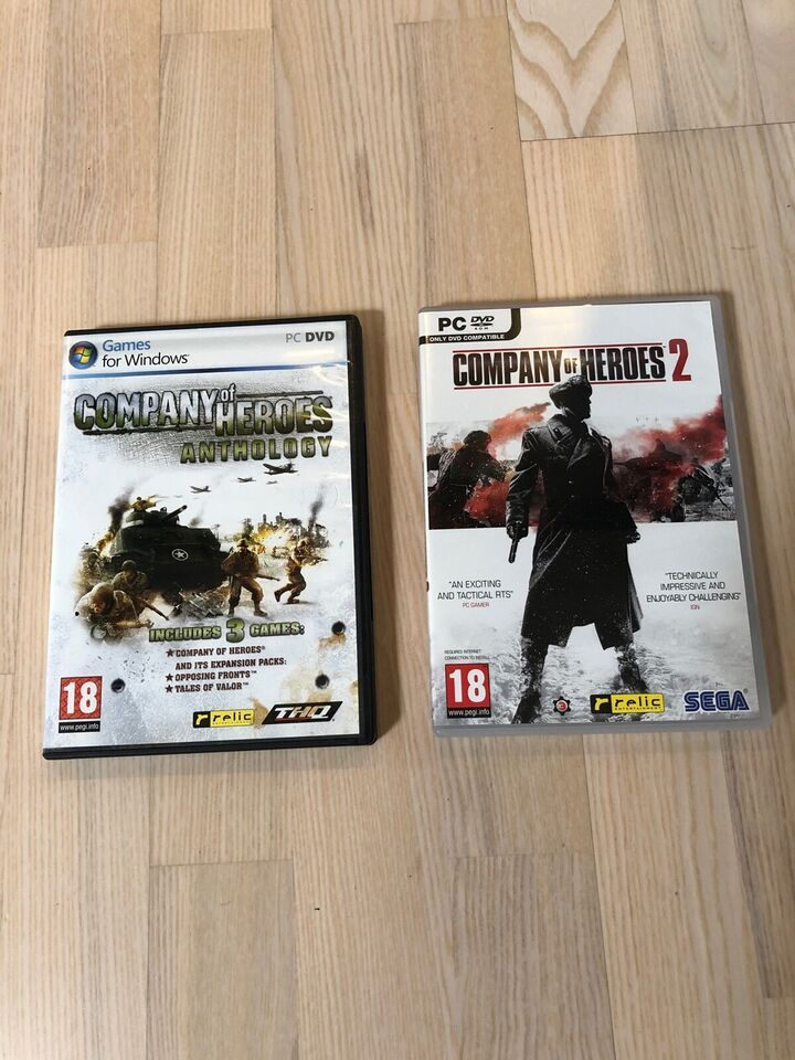 Company of heroes anthology&Company of heroes 2, til pc,