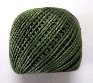 6 Ply Dark Olive Green Strand Cotton Thick Thread Yarn Cross