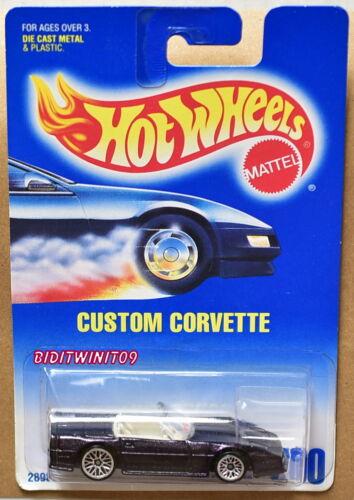 HOT WHEELS 1991 BLUE CARD #200 CUSTOM CORVETTE 13