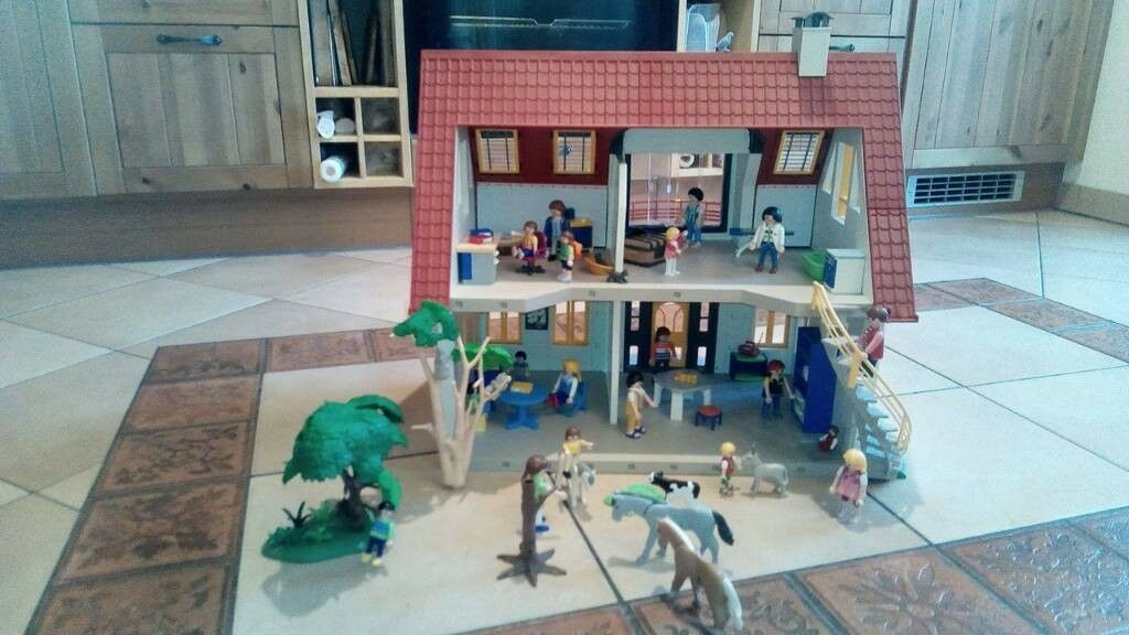 Playmobil Puppenhaus Wohnhaus 4279 mit viel Zubehör Koalas Pferde Möbel Figuren  | Die erste Reihe von umfassenden Spezifikationen für Kunden