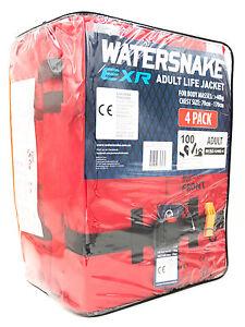 Watersnake Adults 100N EXR Foam Block Life Jacket Pack Of 4