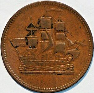 Canada-token-Breton-997-Ships-Colonies-Commerce