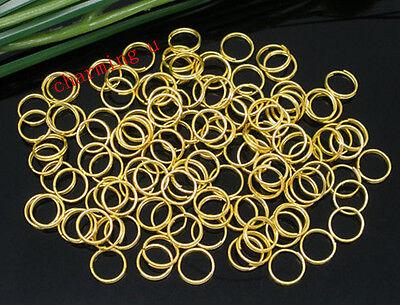 Fashion Jewelry Jewelry & Watches Cooperative 100 Pz Anellini Doppio Giro Colore Oro 8mm bijoux Removing Obstruction
