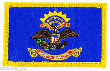 Ecusson Brodé PATCH drapeau DAKOTA du NORD NORTH USA FLAG EMBROIDERED