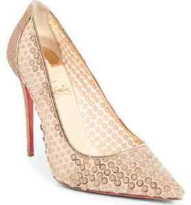 reputable site f2b7f b2734 Details about New sz 11.5 / 42 Christian Louboutin Cabaret Sequin Pointed  Toe Pump Shoes