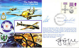 RAFA17 WW2 WWII Battle of Britain Night Blitz cover signed SCHOPFEL KC