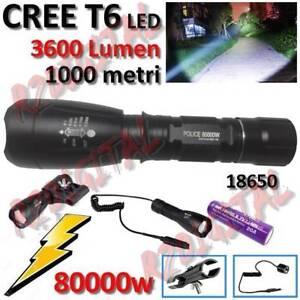 LAMPADA-TORCIA-POLICE-ATTACCO-CANNA-FUCILE-80000W-CREE-LED-T6-3600Lm-POTENTE