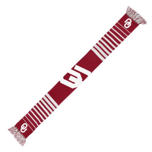 Oklahoma Sooners Scarf Knit Winter Neck NEW NCAA Team Colors Big Logo