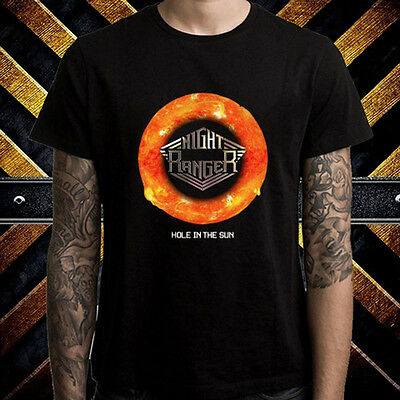 night ranger hole in the sun rock band men 39 s black t shirt size s to 3xl ebay. Black Bedroom Furniture Sets. Home Design Ideas