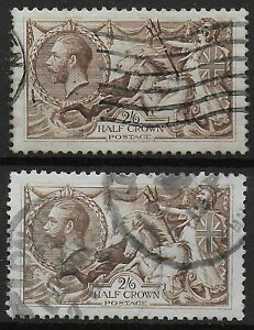 SG413a-1918-2s6d-Olive-Brown-2-Examples-Good-Used-Well-Centred-Ref-0489
