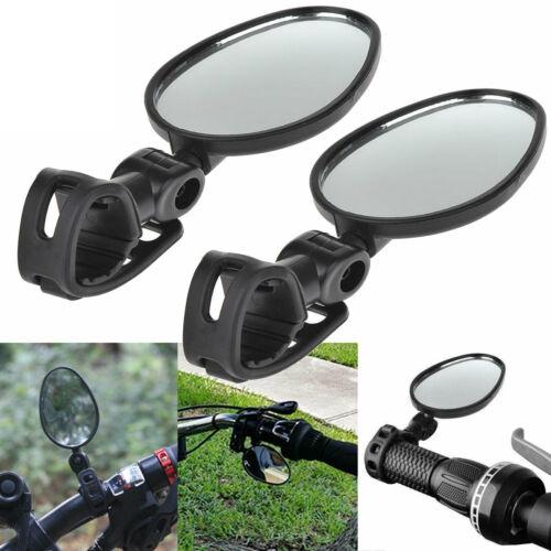 1 Pairs Mini Rotaty Handlebar Glass Rear view Mirror for Road Bike Bicycle Best