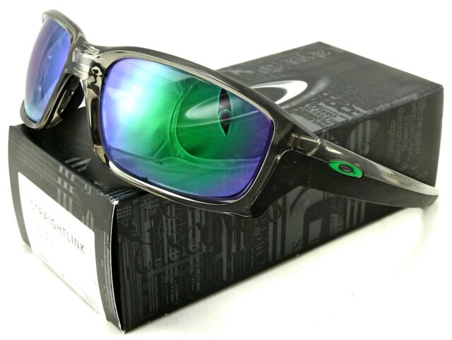 NEW OAKLEY STRAIGHTLINK SUNGLASSES OO9331-03 GREY INK   JADE IRIDIUM LENS d759c0bb5dc