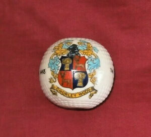ARCADIAN-CRESTED-CHINA-GOLF-BALL-CHORLEY-WOOD-Mint-Condition