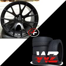 "22"" Hellcat Style Rims w Tires Satin Black Fits Dodge Ram 1500 Durango Dakota"